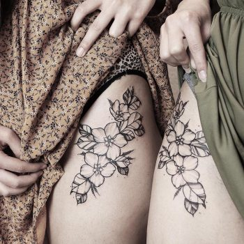 Twin sister tattoos by @sollefe