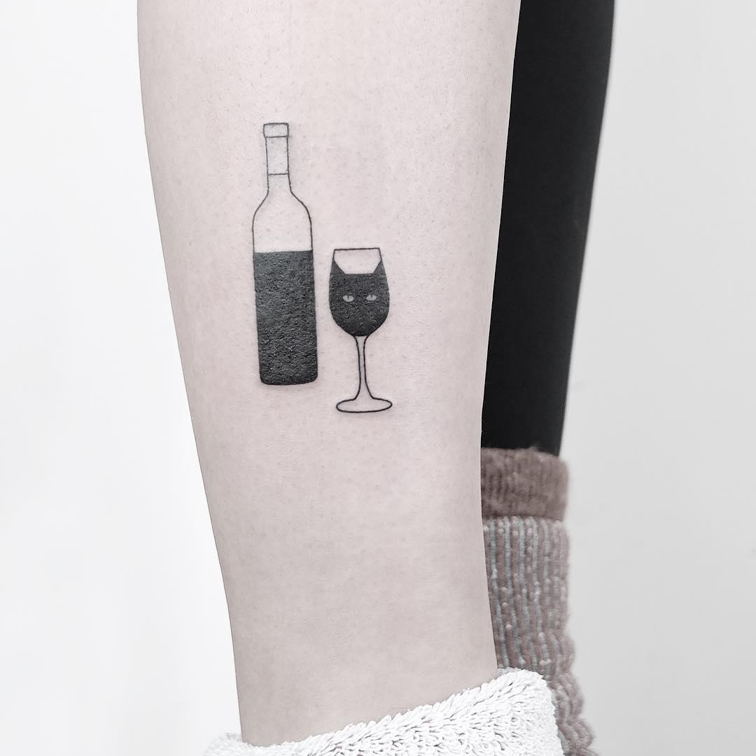Wine cat by @mateutsa