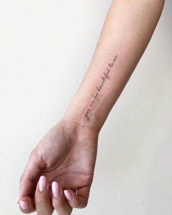 You are so beautiful to me tattoo by @joannamroman