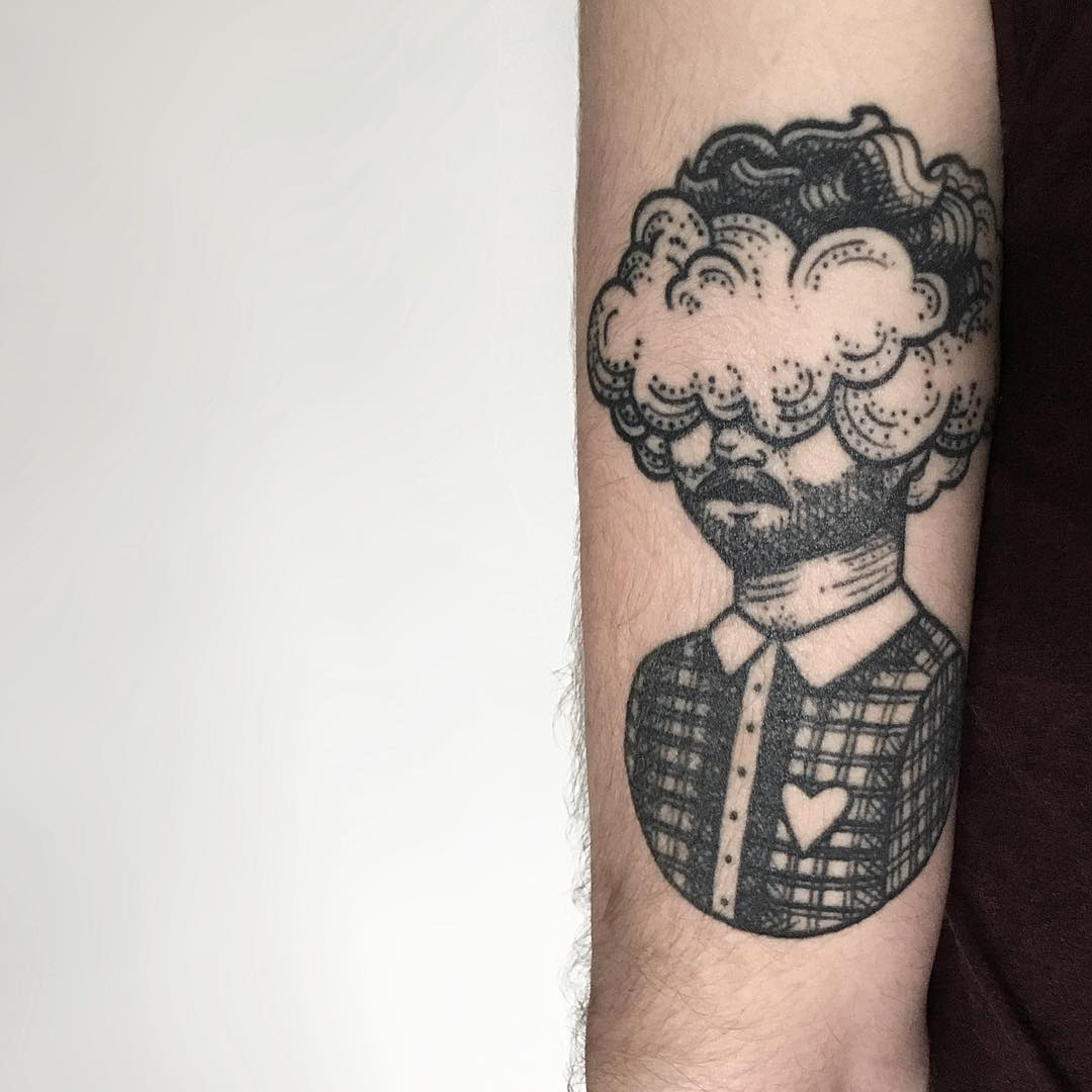 Cloud head by @isaarttattoo