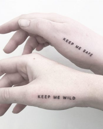 Keep me safe keep me wild tattoo by @joannamroman