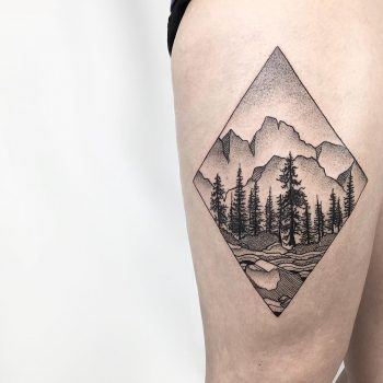 Aragonese Pyrenees tattoo by @isaarttattoo