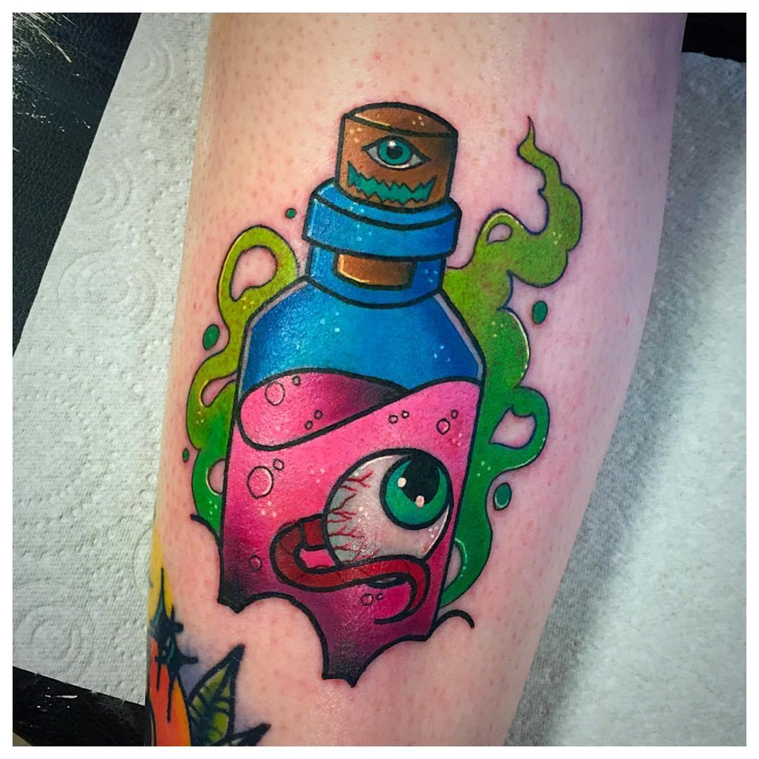 Eyeball in a bottle by @stickypop