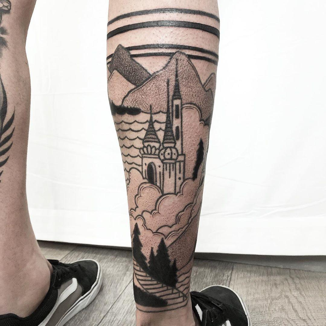 Towers by @isaarttattoo