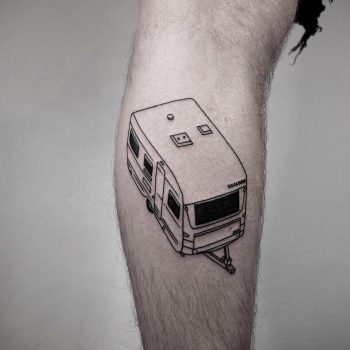 Caravan tattoo by @mateutsa