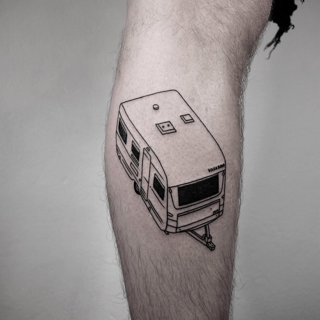 Caravan tattoo by @mateutsa