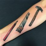 Carpenter's tools by @pablo_de_tattoolifestyle