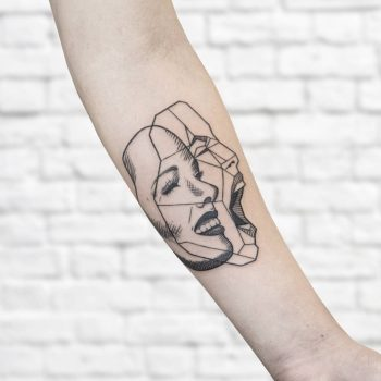 Different faces by @isaarttattoo