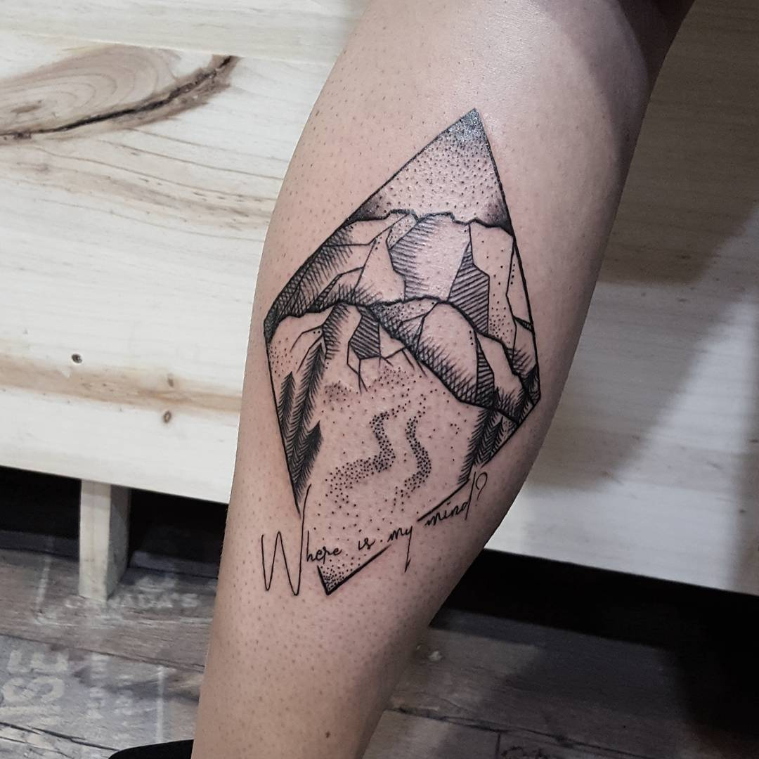 Where is my mind tattoo by @isaarttattoo