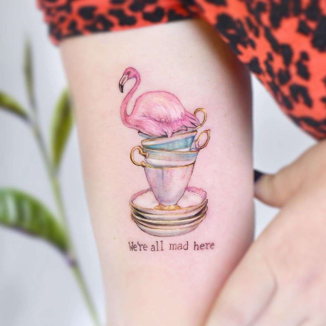Alice in Wonderland ️Mad Tea Party by Edit Paints Tattoo