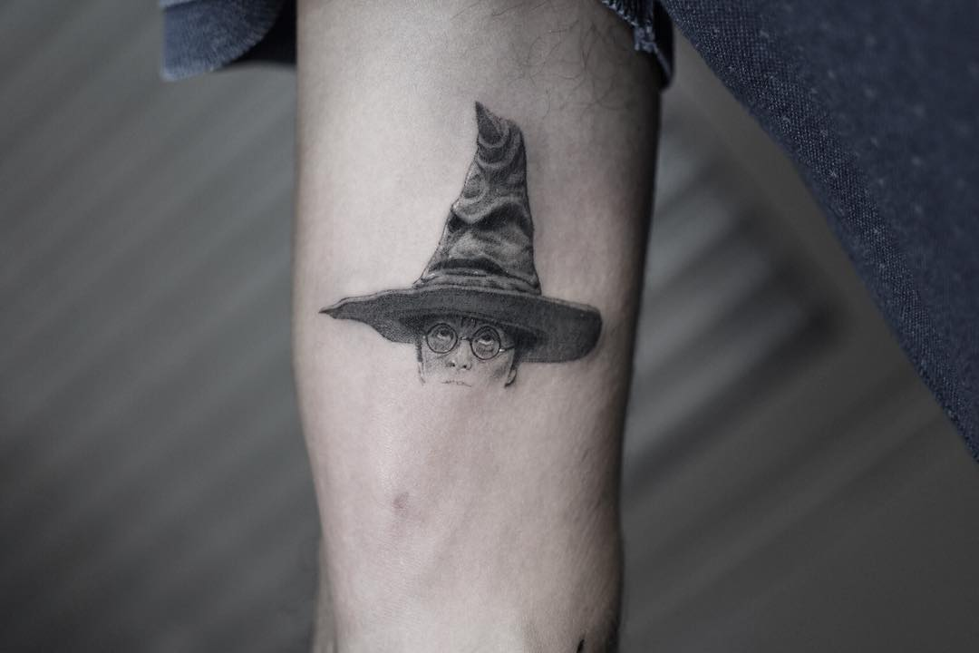 The Sorting Hat tattoo by Edit Paints Tattoo