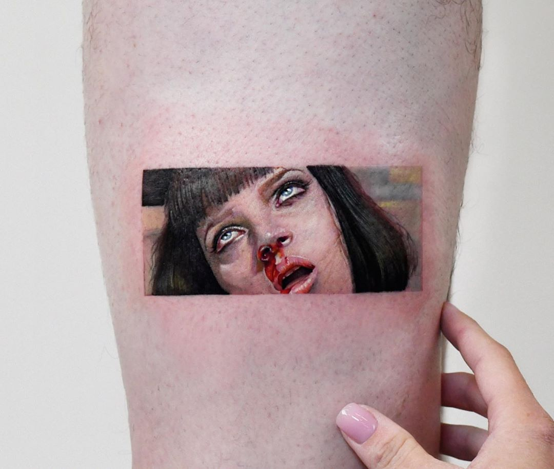Pulp Fiction overdose scene tattoo by Edit Paints Tattoo
