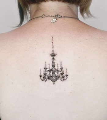 Chandelier by Edit Paints Tattoo