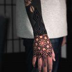 Mandala on the Right Hand by tattooist Arang Eleven