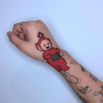 Teletubbies Po Tattoo by @88world.co.kr