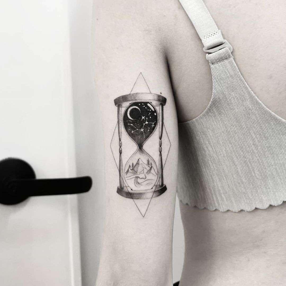 Time by tattooist Ian Wong