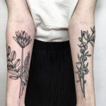 Flowers on forearms by @vlada.2wnt2