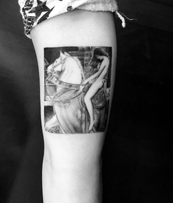 Girl on a horse by Edit Paints Tattoo