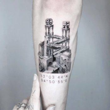 MC escher by Edit Paints Tattoo
