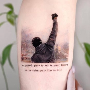 Our greatest glory is not in never falling by Edit Paints Tattoo