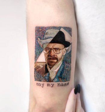 Heisenberg Van Gogh by Edit Paints Tattoo