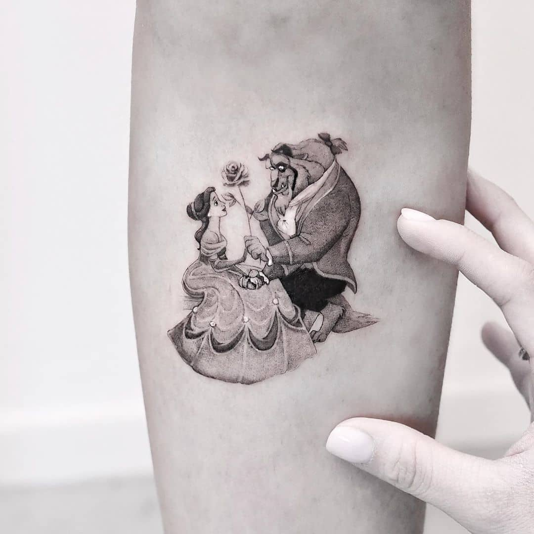 Beauty and the Beast by Edit Paints Tattoo