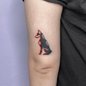 Dobermann Pinscher Tattoo by @88world.co.kr