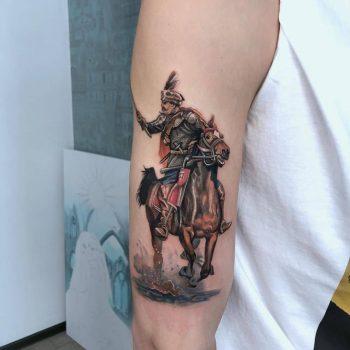 Kozak Tattoo by tattooist Anna Zelenska