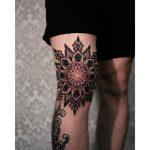 Mandala on a Knee by tattooist Arang Eleven