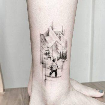 Mountain Memories by tattooist Ian Wong