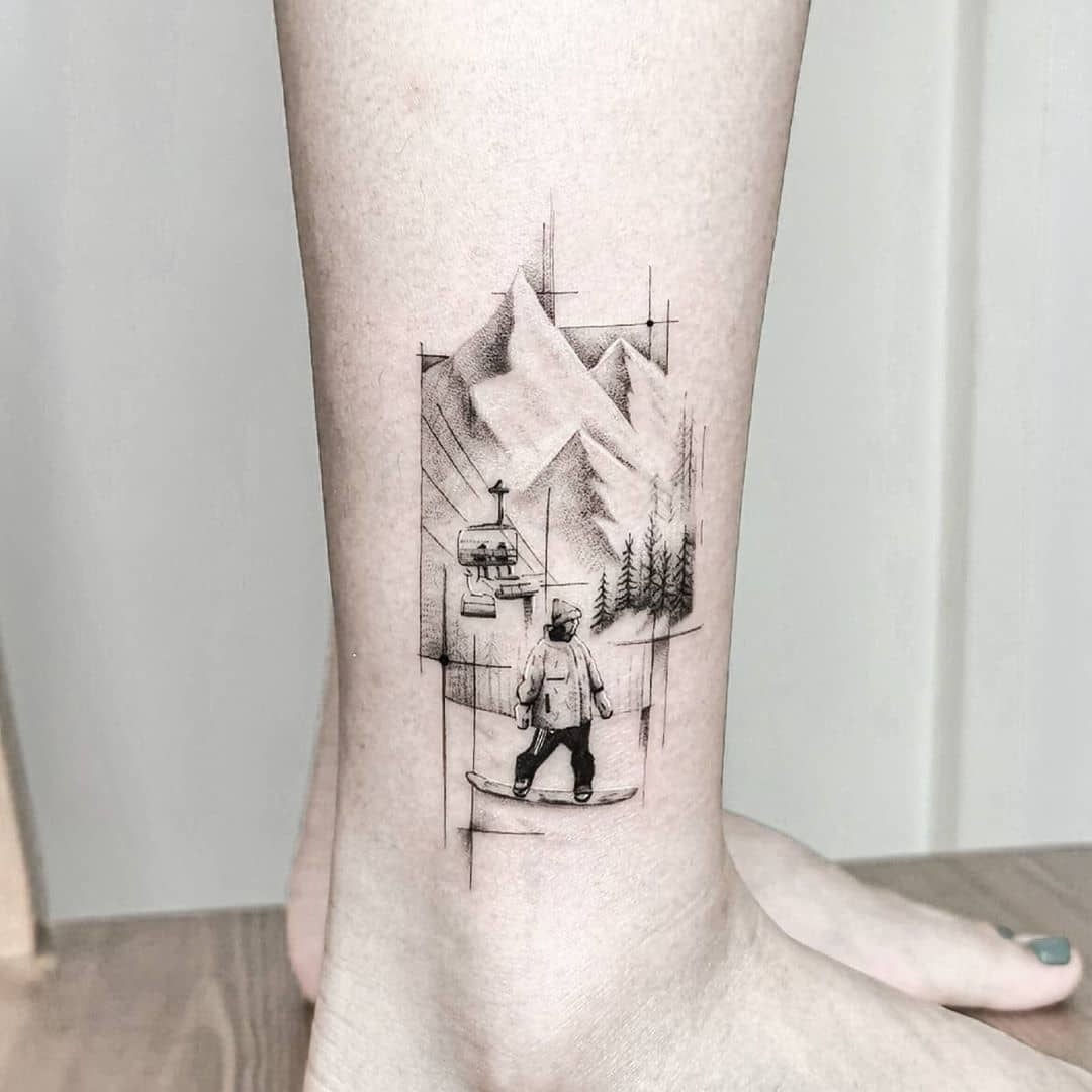 Mountain Memories by tattooist Ian Wong