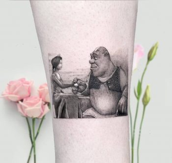 Shrek and Fiona by Edit Paints Tattoo