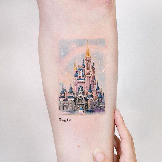 The Magic Kingdom Disney Castle by Edit Paints Tattoo