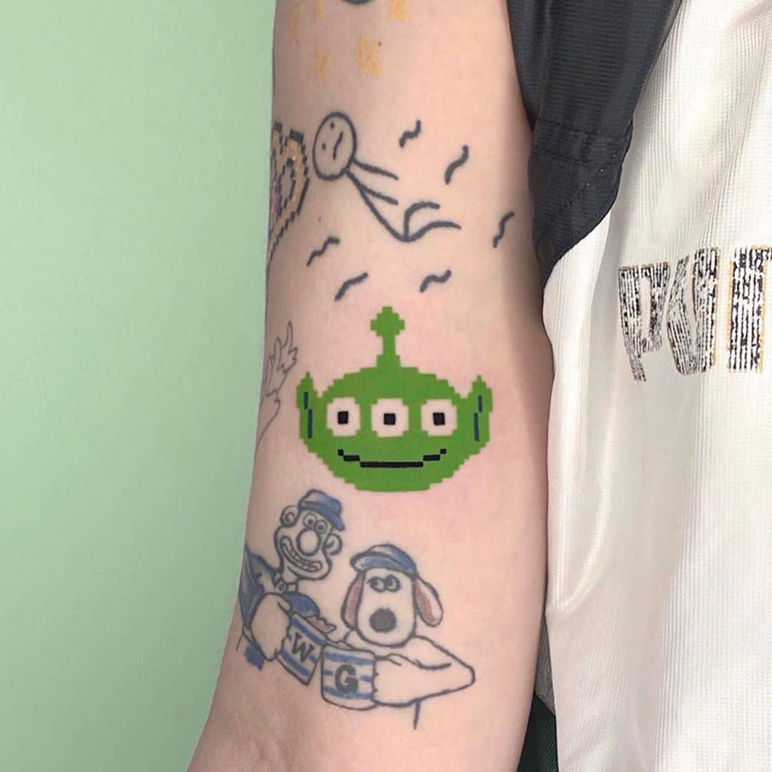 Toy Story Alien Tattoo by @88world.co.kr