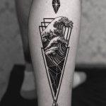 Stylized Wave by tattooist Arang Eleven