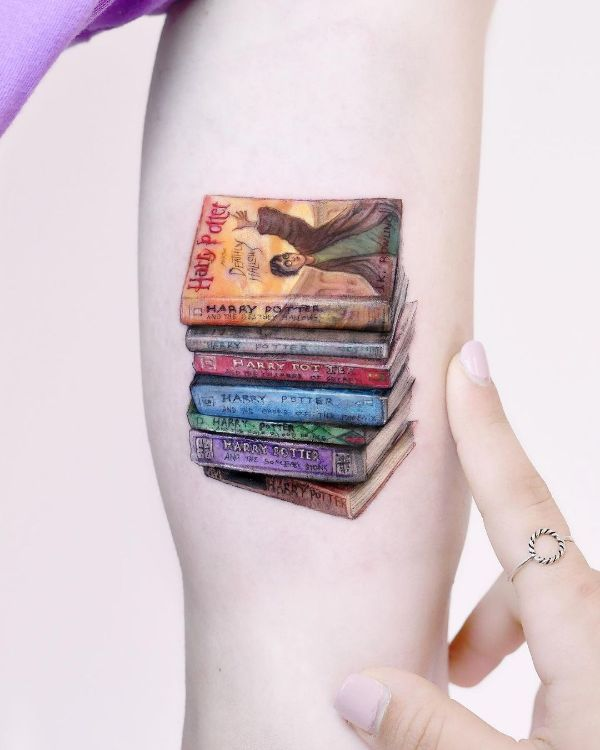 All Seven Books of Harry Potter ️by Edit Paints Tattoo