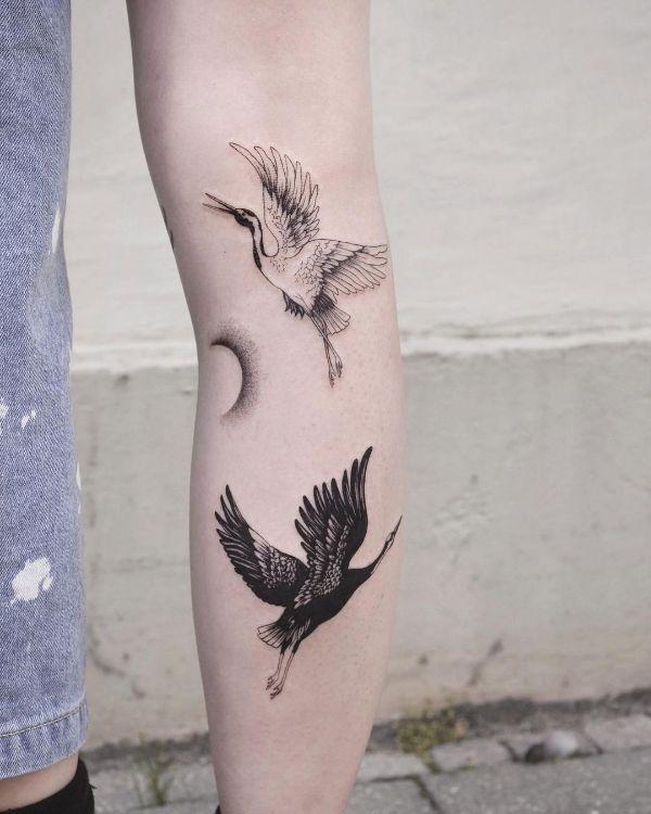 Black and White Cranes by @tatti040