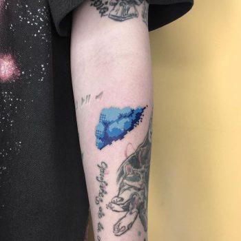Blue Cloud Tattoo by @88world.co.kr
