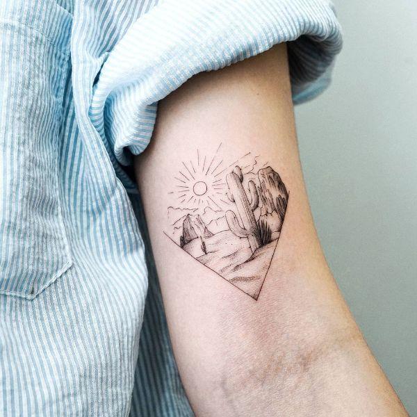 Cactus by tattooist Ian Wong
