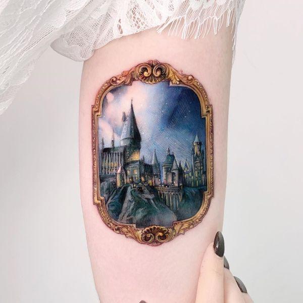 Hogwarts by Edit Paints Tattoo