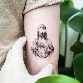 Jesus Christ by tattooist Ian Wong