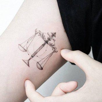 Libra Tattoo by tattooist Ian Wong