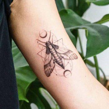 Moth by tattooist Ian Wong