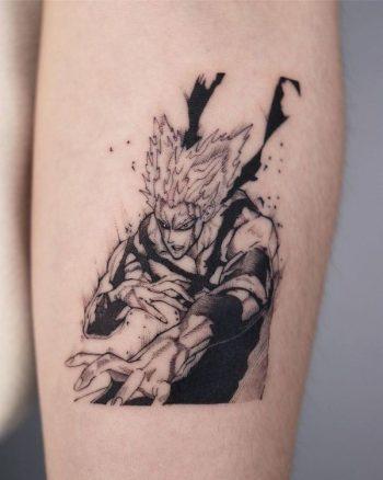 One-punch Man Tattoo by @sai_rgb