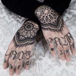 Mandalas on Hands by tattooist Arang Eleven
