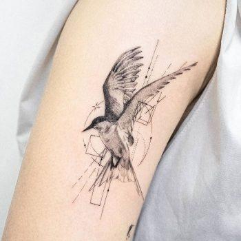 Arctic Tern Tattoo by tattooist Ian Wong