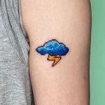 Cloud Lightning Tattoo by @88world.co.kr