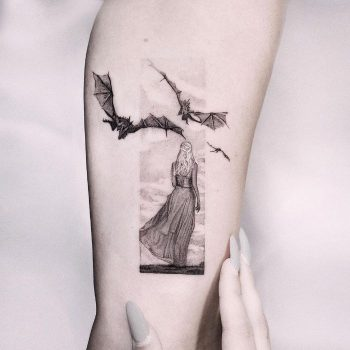 Mother of Dragons Khaleesi Tattoo by Edit Paints Tattoo