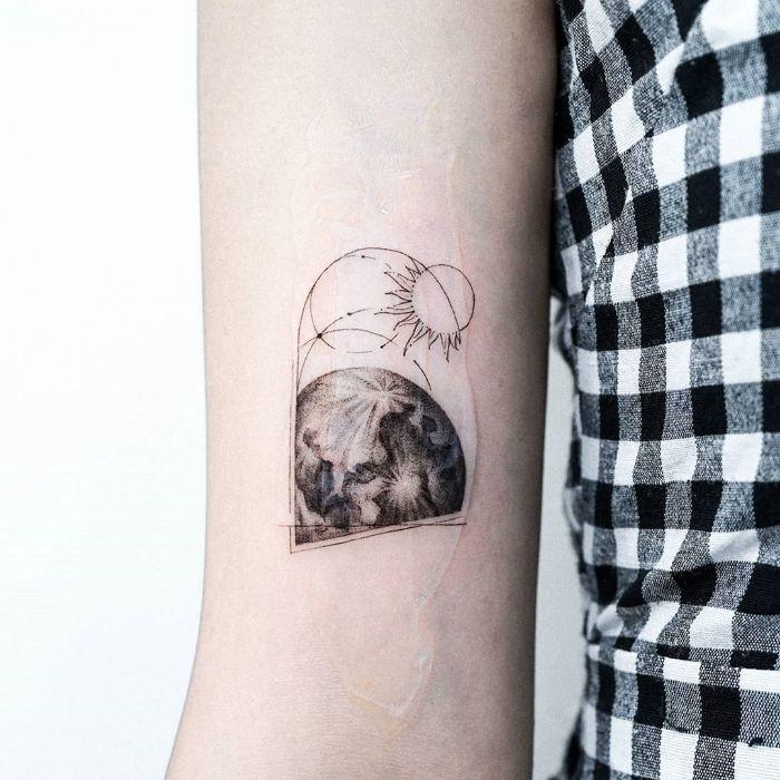 Planets by tattooist Ian Wong