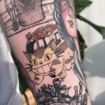 Cat bus from Totoro by @mylittleblueforest